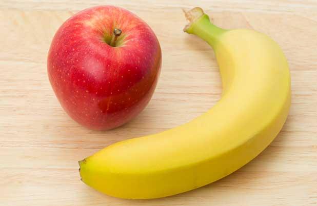 Banana y manzana