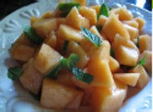 Receta de ensalada de melón con menta