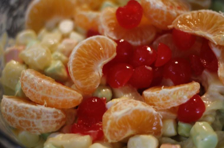 Receta de ensalada de tres frutas