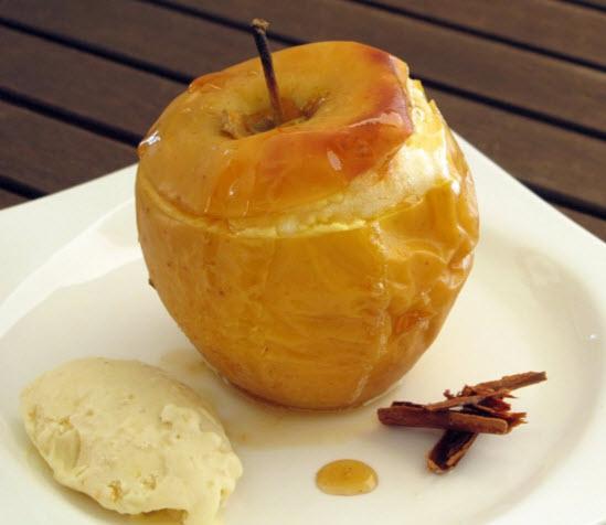 Receta de postre de manzana con canela