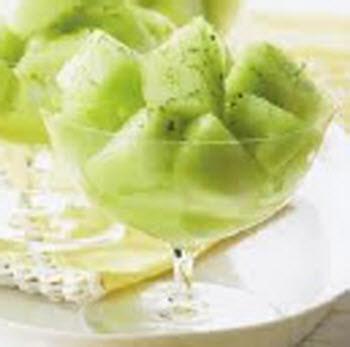Receta de melón con limón y jengibre