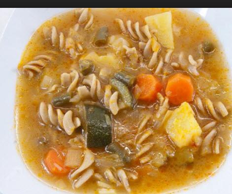 Receta de sopa de minestrón rápida