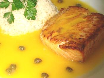 Receta de pescado en salsa de maracuyá