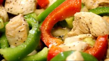 Receta de pollo con verduras chinas
